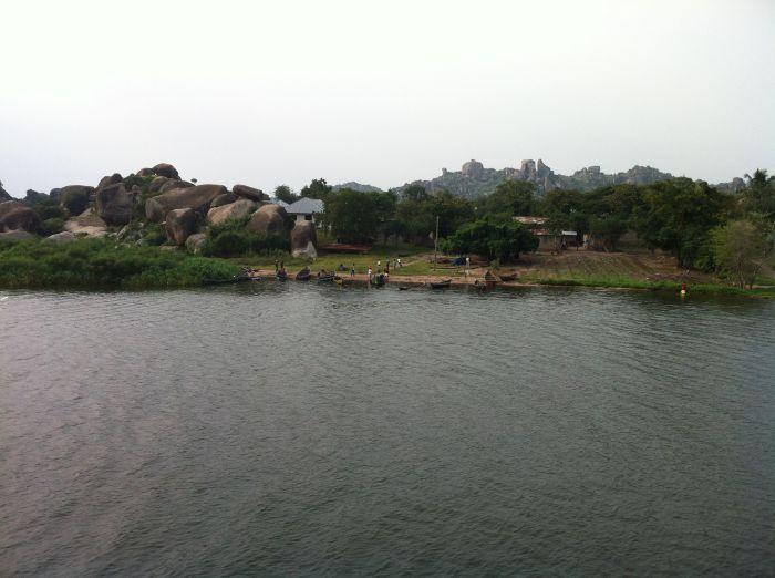 Victoria lake, stone structures, near Mwanza