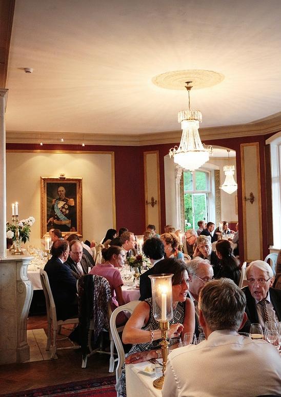 Dinner discussions at Sofiero Castle. © Cheryl Cordeiro